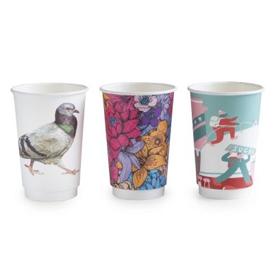16oz Gallery design double wall hot cup, 89-series