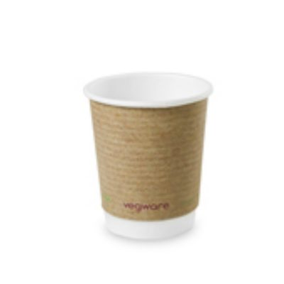 8oz Double Wall Brown Kraft Hot Cup, 79 Series