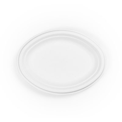 10in Oval Bagasse Plate