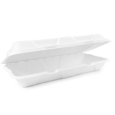 12x6in Bagasse Clamshell