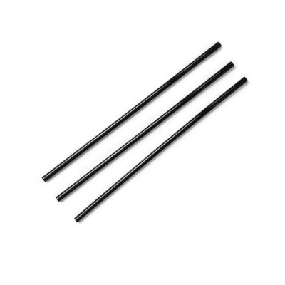 Highball black 5mm PLA straw, 8.25in / 210mm