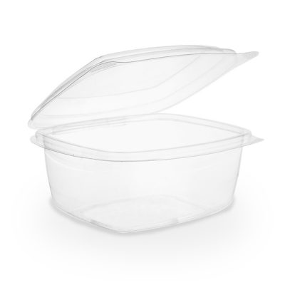 16oz PLA hinged lid deli container