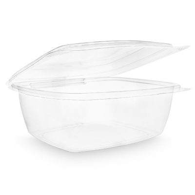 48oz PLA hinged lid deli container
