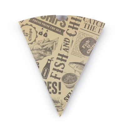 Newspaper Print Chip Cone