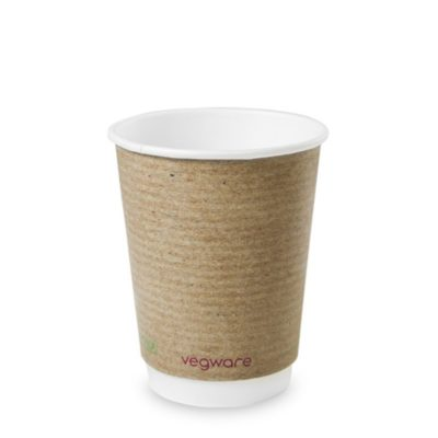 12oz Double Wall Brown Kraft Hot Cup, 89 Series
