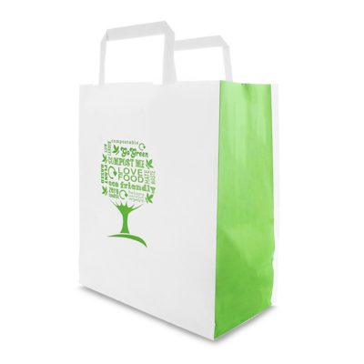 Medium Paper Carrier (8.5in width) – Green Tree