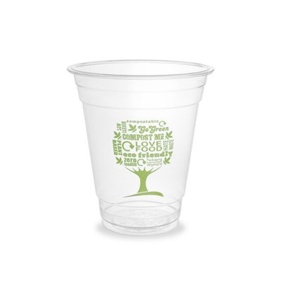 12oz PLA Cold Cup, 96 Series – Green Tree
