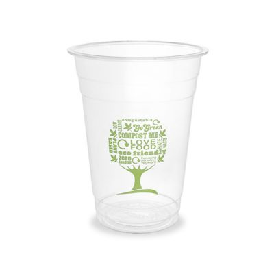 16oz PLA Cold Cup, 96 Series – Green Tree
