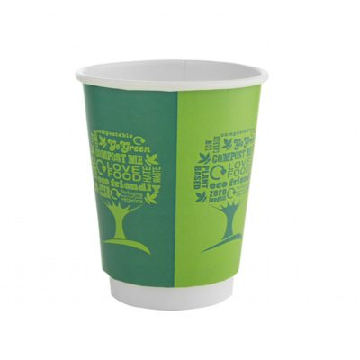 8oz Double Wall Hot Cup, 79 Series – Green Tree