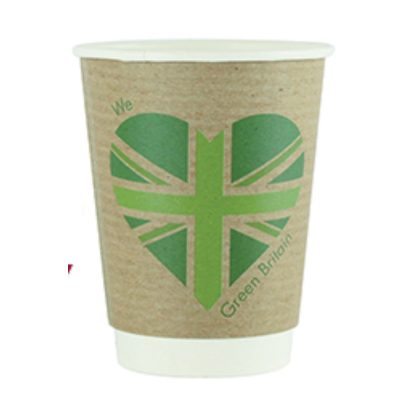 12oz Double Wall Hot Cup, 89 Series – Green Britain