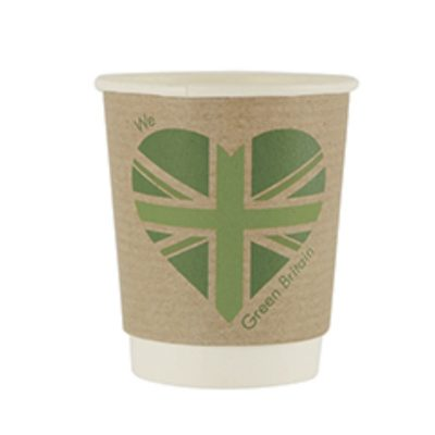 8oz Double Wall Hot Cup, 79 Series – Green Britain