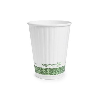 12oz White Embossed Hot Cup 89 series