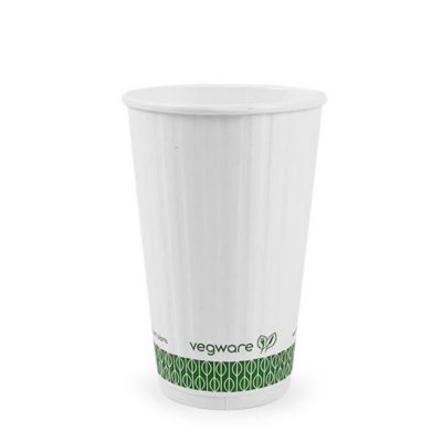 16oz White Embossed Hot Cup 89 series