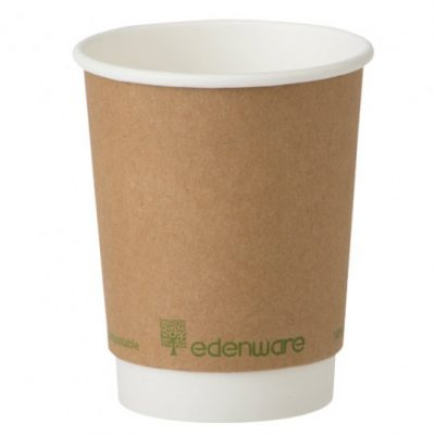 8oz Edenware Double Wall PLA Coffee Cup