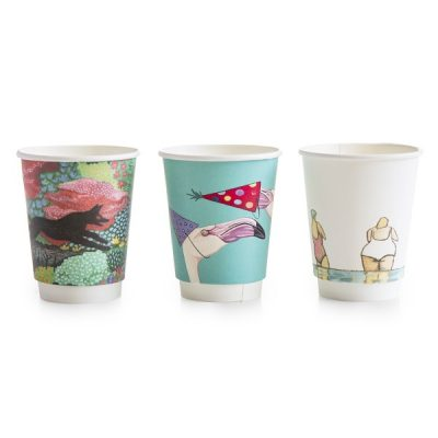 8oz Gallery design double wall hot cup, 79-series