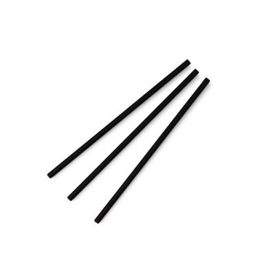 Highball black 6mm paper straw, 7.8in
