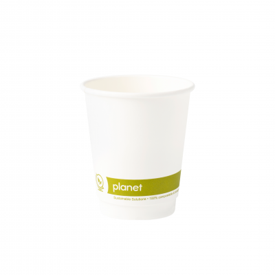 8oz 'Planet' PLA Double Wall Compostable Hot Cup