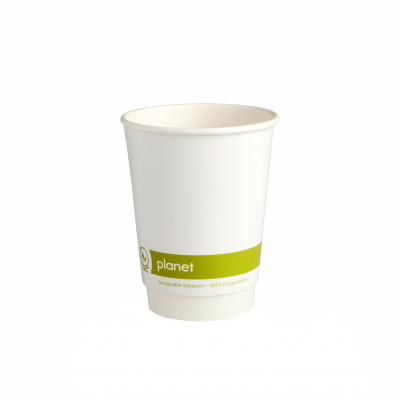 12oz 'Planet' PLA Double Wall Compostable Hot Cup
