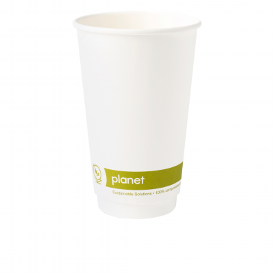 16oz 'Planet' PLA Double Wall Compostable Hot Cup