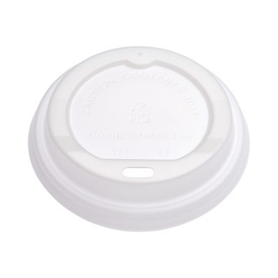 Planet Compostable White PLA Lid 80mm