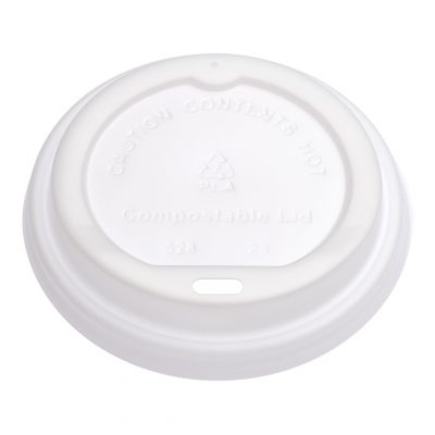Planet Compostable White PLA Lid 90mm