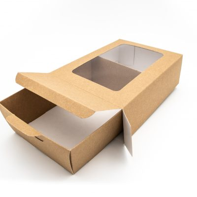 Small Window Kraft Platter Box ***PERFECT FOR GRAZING BOXES***