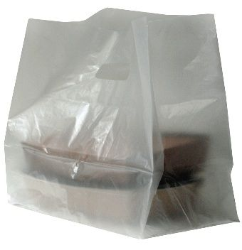 Frosted Plastic Carrier Bag/Takeaway Bag