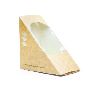 Deep Fill 75mm kraft Sandwich Wedge